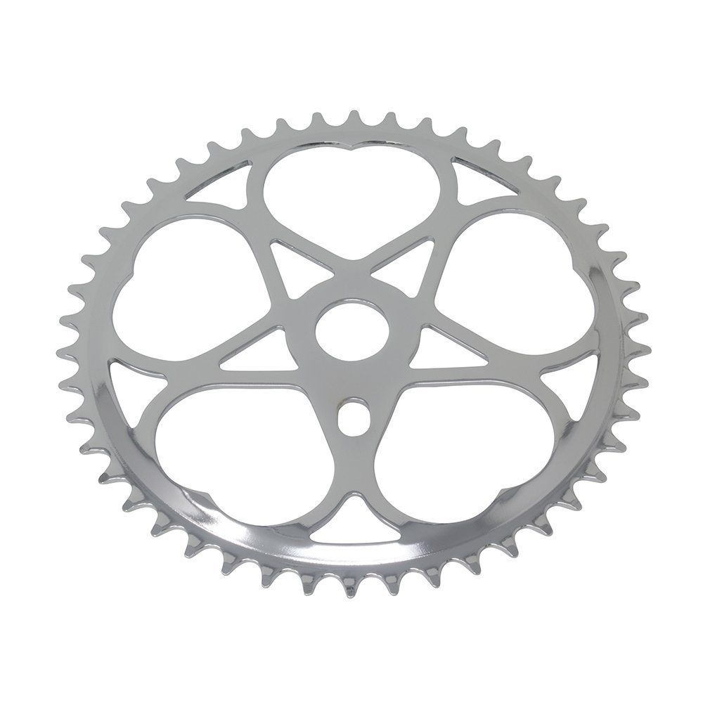 137921 Bicycle Sprocket Chainring Js-s46t 1//2 X1//8 Chrome Cruiser Lowrider Bike