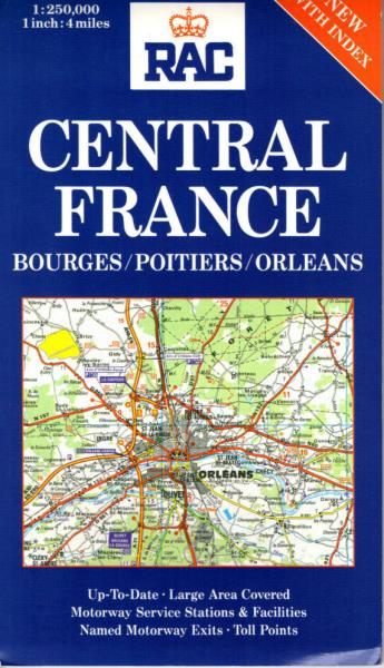 Central France Bourges Poitiers Orleans RAC Regional Maps of France