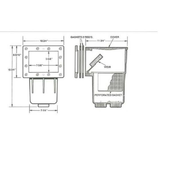 Hayward Skimmer Box Sp1089 Suit Above Ground Swimming Pool