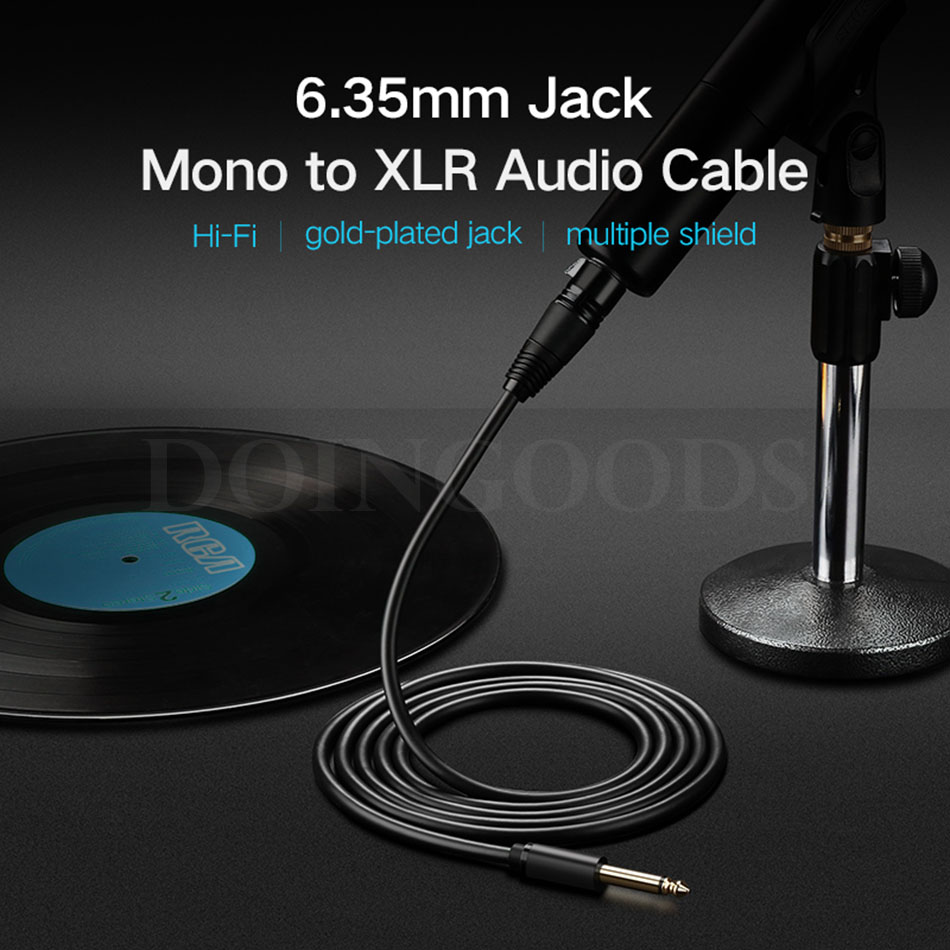 Ugreen Xlr Jack Cable 635 65mm To Male Female Audio Microphone Wiring Connector Strong High Quality Materials