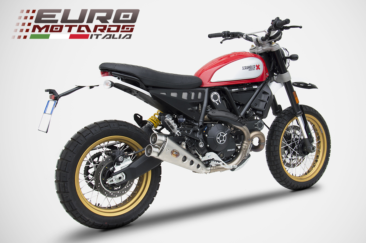 ducati scrambler desert sled zard exhaust low mounted. Black Bedroom Furniture Sets. Home Design Ideas