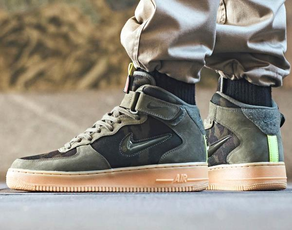 competitive price 7087a 67373 Details about Nike Air Force 1 Mid Jewel Country Camo Olive Sz 7-13 Men  shoes Jordan AF1 Max