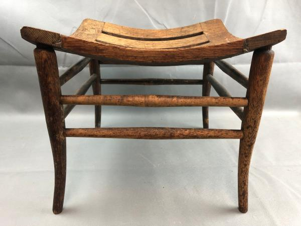 Fabulous Details About Vintage Arts Crafts Mission Oak Egyptian Thebes Stool Pabps2019 Chair Design Images Pabps2019Com