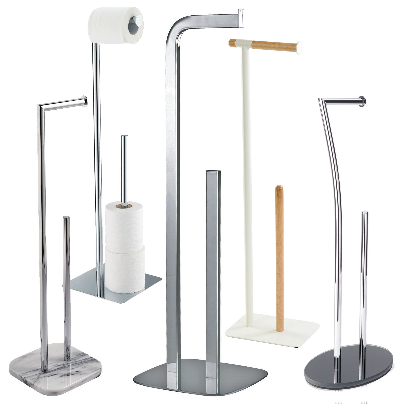 Free Standing Toilet Roll Spare Paper Holders Toilet Butlers By