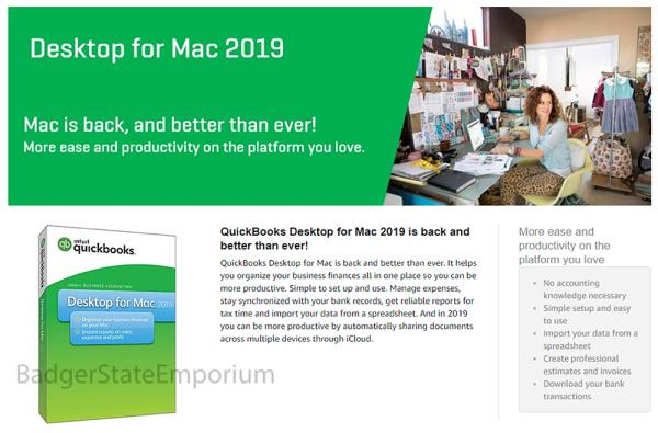 Details about Intuit QuickBooks Desktop for MAC 2019 Accounting 1 User *  NEW RETAIL BOX w DISC