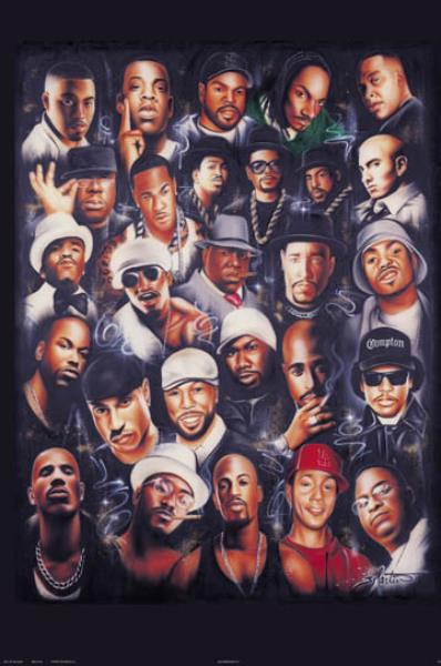 Rap Legends 24x36 Poster Best Rappers 2pac Biggie Nas ... Tupac And Biggie Painting