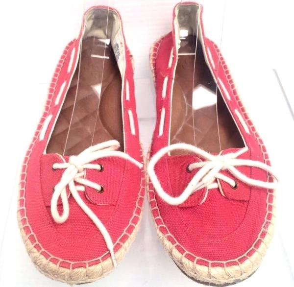 Women's Shoes Reef Casual Lace Up Surf Beach Sneakers Red Canvas Textile Size 8M