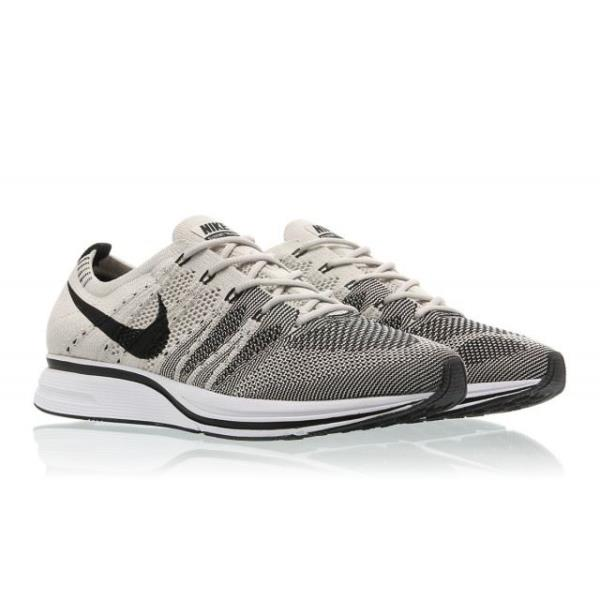 bcf461a06630 Nike FLYKNIT TRAINER Pale Grey Black-White Size 5 6 7 8 9 10 11 12 Mens  Shoes AH. 100% AUTHENTIC OR MONEY BACK GUARANTEED