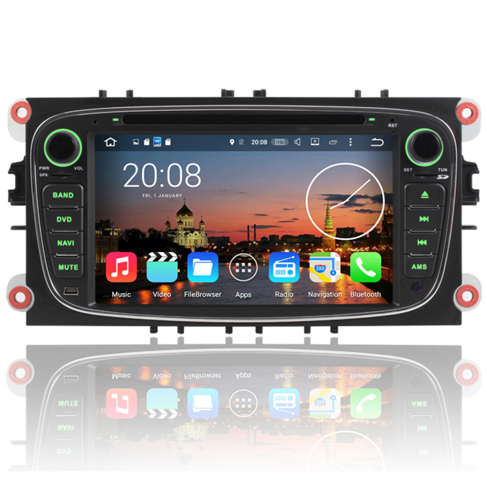 7 android 6 head unit wifi gps satnav black stereo dab. Black Bedroom Furniture Sets. Home Design Ideas