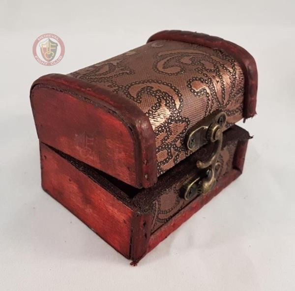 Details about Small Medieval Chest Box Jewellery Keepsafe Table decoration  Coins Storage Cards