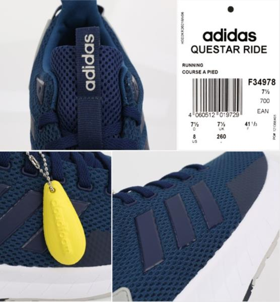 buy online 09689 ababd Adidas Men Questar Ride Shoes Running Training Blue Sneakers