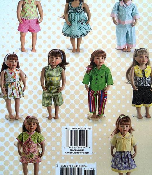 """Annie/'s Love To Dress Up  Sew 18/"""" Doll Clothes   Made From Fat Quarters"""