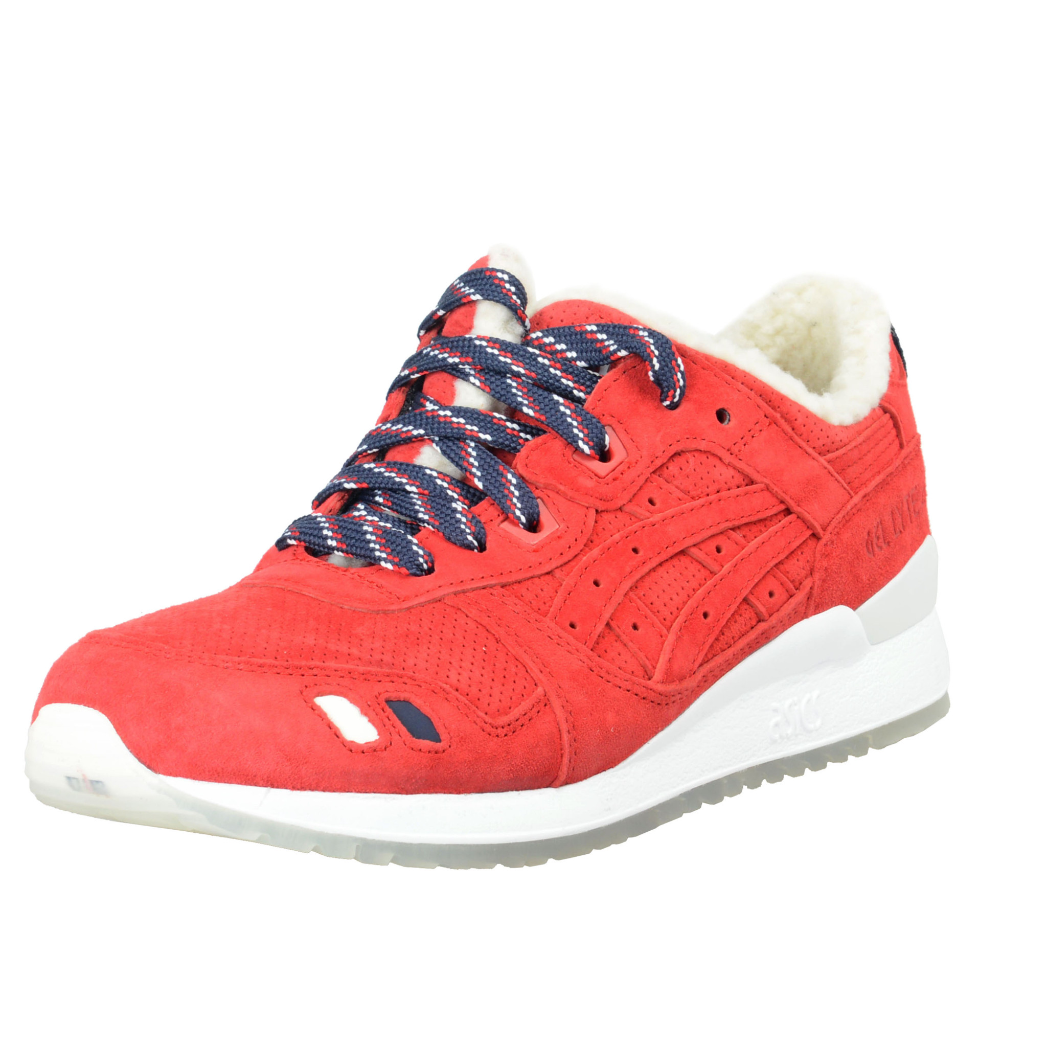 free shipping 09fff 3e725 Details about KithX MonclerX Asics Gel-Lyte III Suede Leather Fashion  Sneakers Shoes 8.5 9.5
