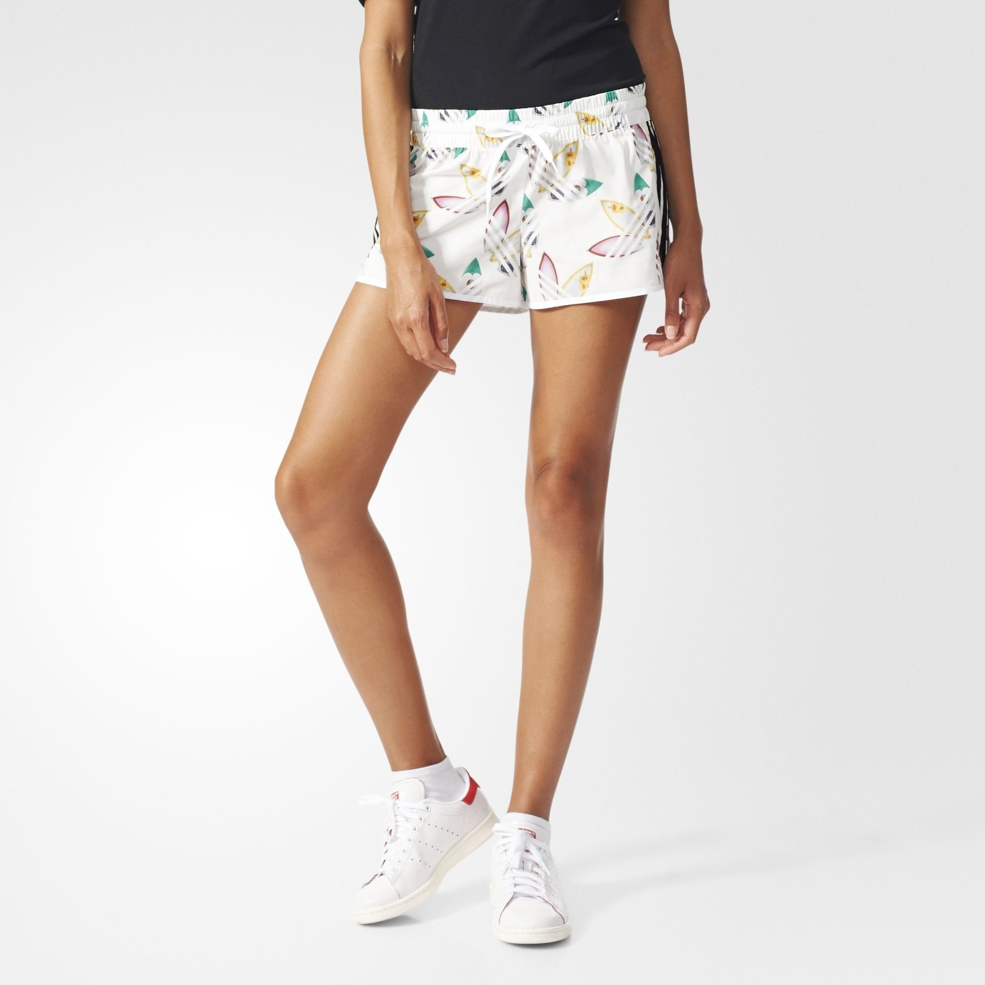 3b852d07f2 adidas x Pharrell Williams Womens Trefoil Surf Shorts | AO3162. All sizes  listed are UK. See sizing tab below for conversions.