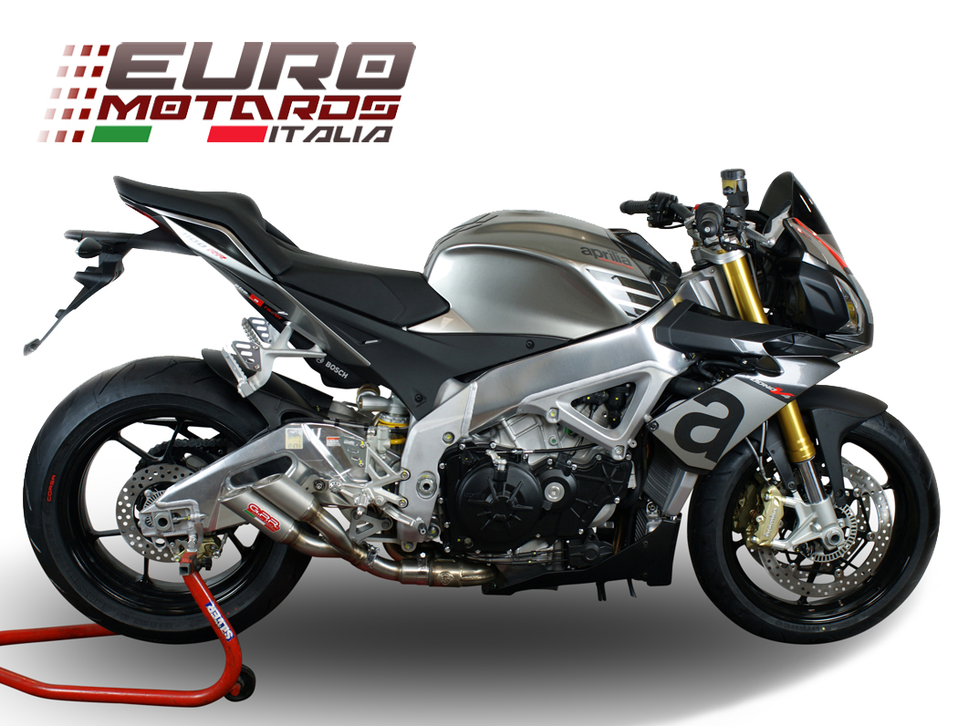 aprilia tuono v4 r std aprc 2015 2016 gpr exhaust slip on silencer thunder slash ebay. Black Bedroom Furniture Sets. Home Design Ideas
