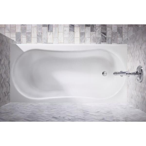 Kohler Soaking Bath Tub Left Drain Submerse 5 ft x 30 Acrylic White ...