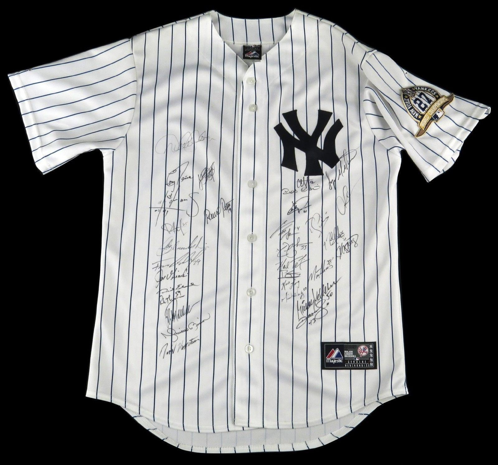 8bb8c113142 2009 NY Yankees World Series Champs Team Signed Jersey Derek Jeter Rivera  JSA