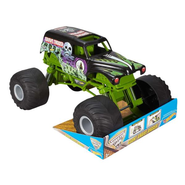 GRAVE DIGGER VEHICLE 1:10 Hot Wheels Monster Jam Racing Car Truck Toy Kids Gift