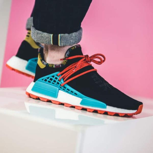 56ca4bdce Adidas Pharrell Williams Nmd Solar hu Human Race Black Size 7-12 Mens New  EE7582