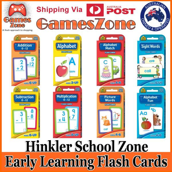 Details about Hinkler School Zone Kids Early Learning Flash Cards Variety  Packs Free Shipping