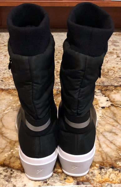 58a9fb01cca7 UNDER ARMOUR UAS Elevated Low Wedge Black Fleece Lined Boots NEW ...