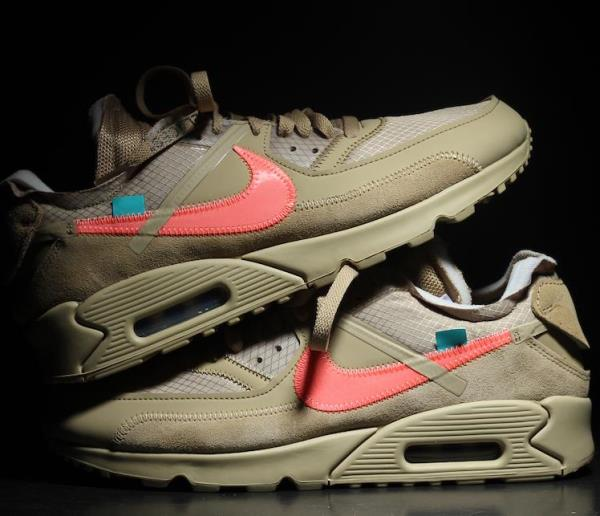 big sale 7c410 bdfb3 Details about NIKE Air Max 90 x Off White Desert Ore Beige Size 8 9 10 11  12 Mens AA7293-200