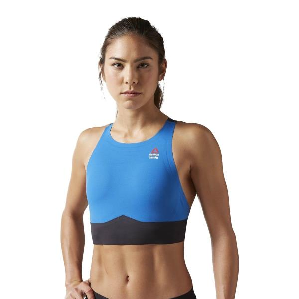 c70242a094 Details about [B46030] New Women's REEBOK RCF Crossfit Paddle Halter Bra -  Blue