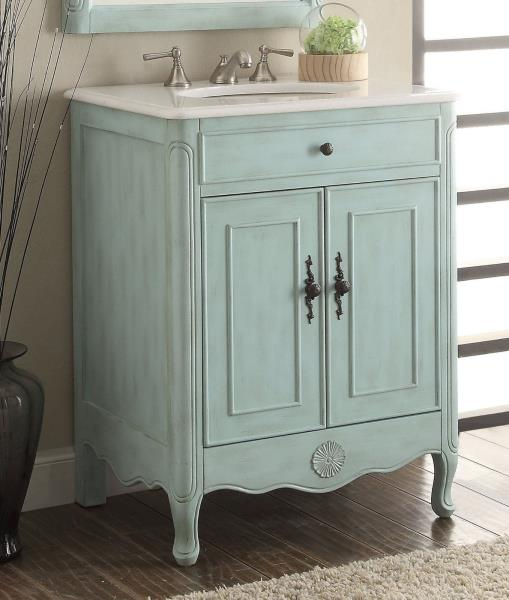 Benton Collection Daleville Rustic Blue Shabby Chic Bathroom Vanity 838lb 26 Ebay