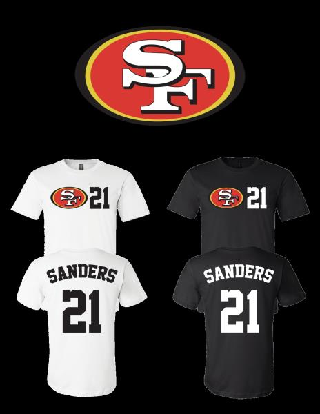 timeless design 214e1 321bc Details about Deion Sanders #21 San Francisco 49ers Jersey player shirt