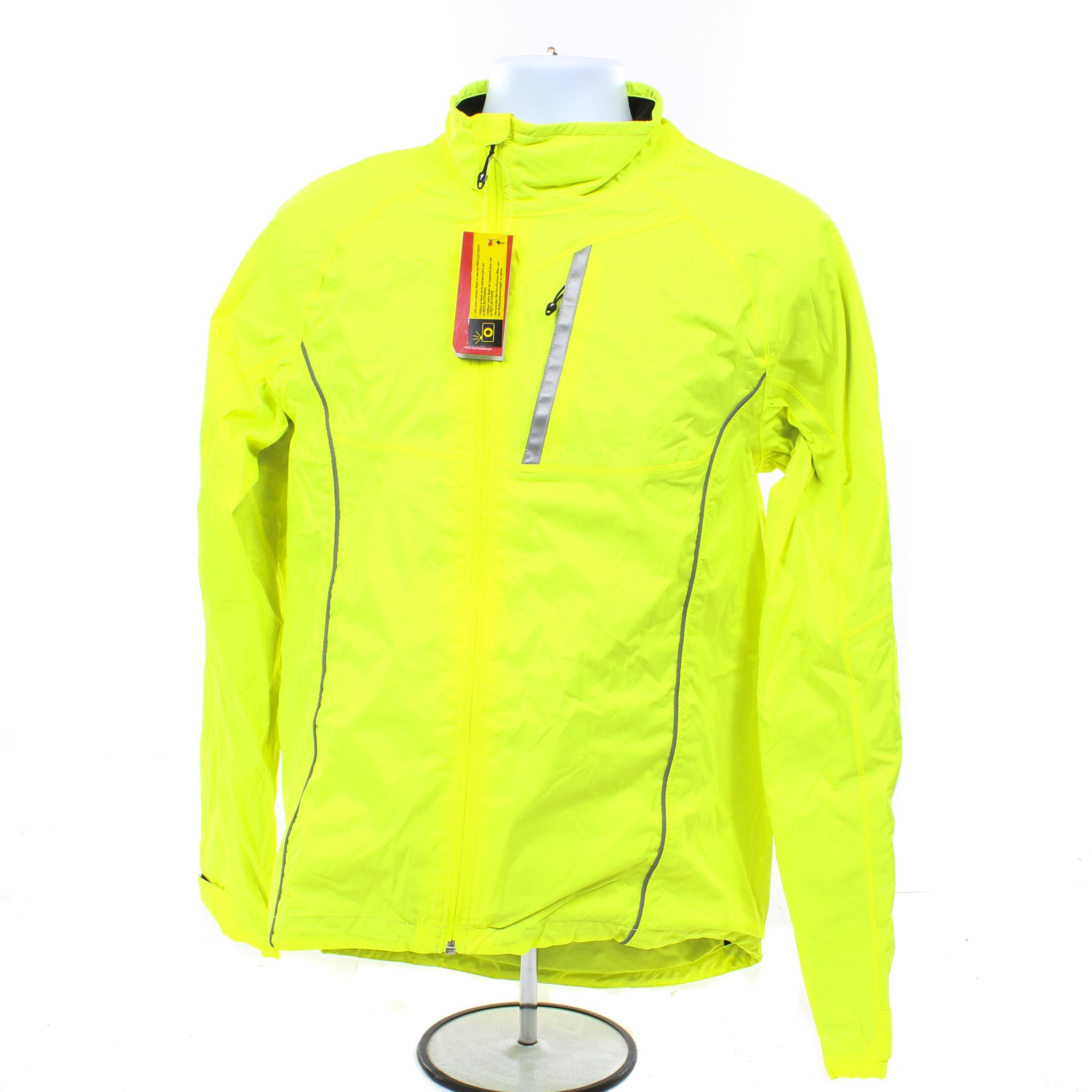 86f2ec607 Details about NEW Specialized Deflect H2O Comp Commuter Cycling Jacket  Medium Neon Yellow