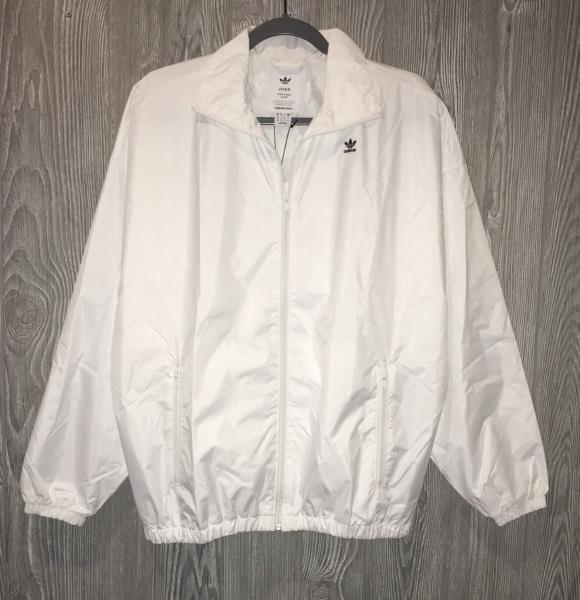 ADIDAS ORIGINALS Hyke White Oversized Windbreaker FZ Jacket