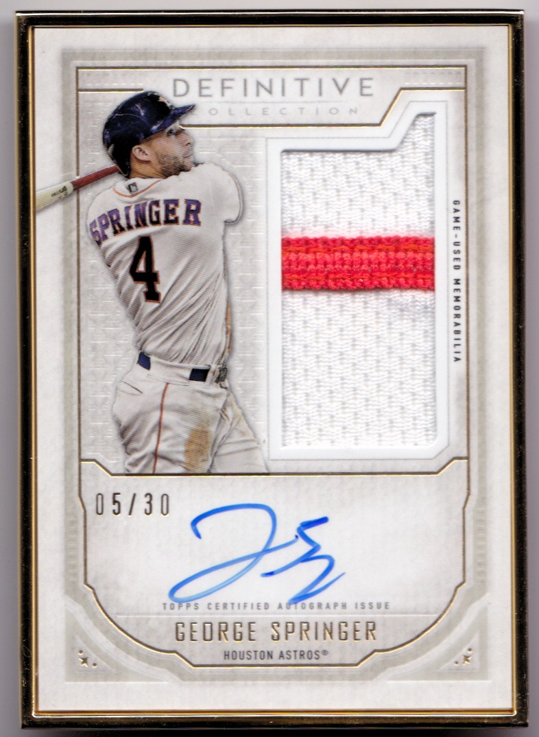 half off 952d8 33250 Details about 2019 Topps Definitive Gold Frame Autograph GEORGE SPRINGER  Auto SP #/30 - ASTROS