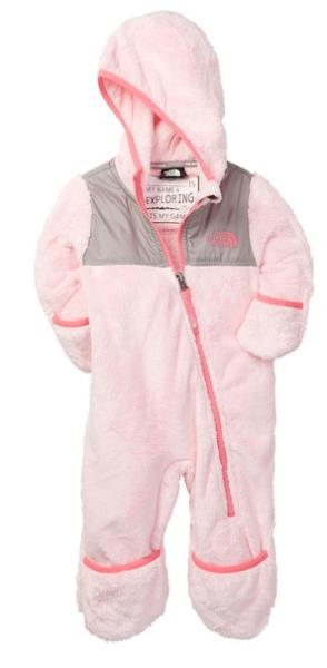 7523c4139789 The North Face Baby Bunting Snowsuit Fleece Toddler Pink Hoodie 18M ...