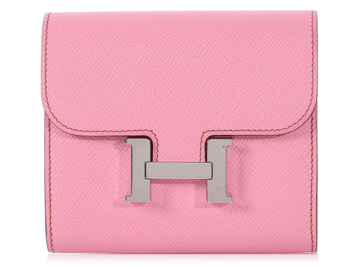 e67b7aaad7eb ... bag made in france new zealand hermes 2009 pink confetti mini constance  wallet total loveliness in epsom 523ae 662f6
