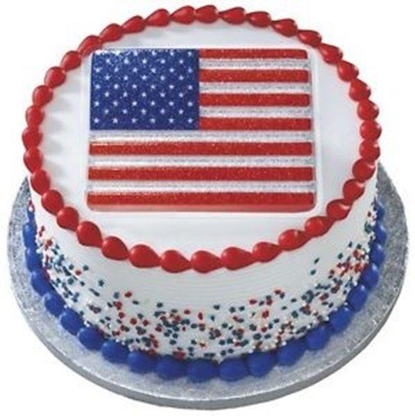 2 Patriotic Glitter Cake Toppers Usa Flag Amp Uncle Sam S