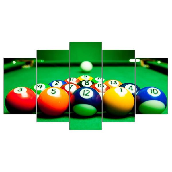 Billiards Pool Table Ball Canvas Wall Art Panel Print Wall Picture ...