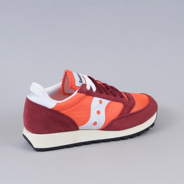 quality design 9c60f da958 SAUCONY Mens Jazz Original Vintage Trainers in FLAME   MAROON. PRODUCT  DETAILS
