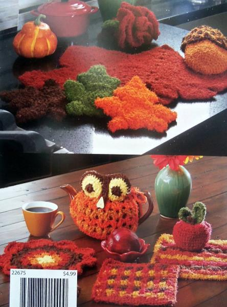 Details about Crochet Autumn Favorites Mary Maxim 13 Patterns For The  Kitchen & Home