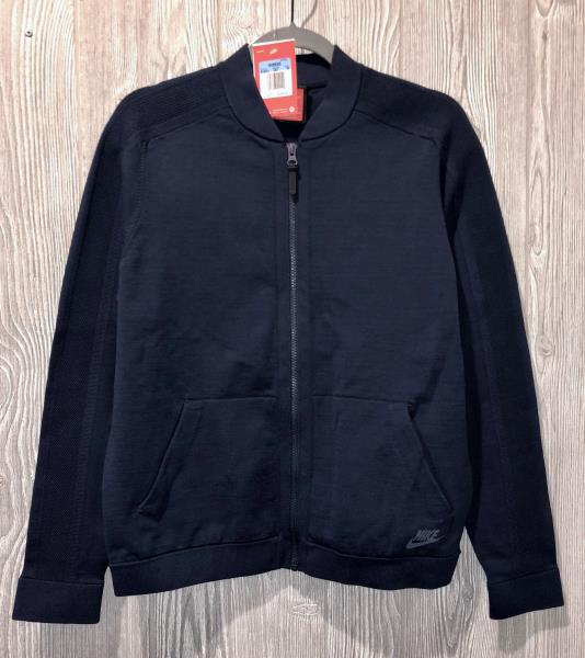 c630e34ecb Details about NIKE NSW Tech Knit Bomber Navy Blue Cotton Blend Jacket NEW  Womens Sz M Medium