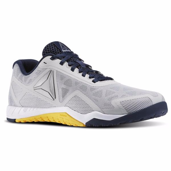 5d59356b8f02 BD5124  Mens Reebok ROS Workout TR 2.0 - Grey Navy Yellow