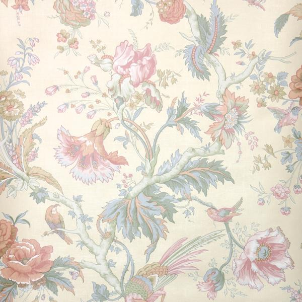 Details About 1980s Vintage Wallpaper European Floral Wallpaper With Pink And Green Flowers