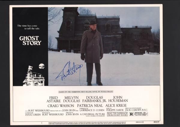 Details about Fred Astaire - Signed Autograph Lobby Card - Ghost Story