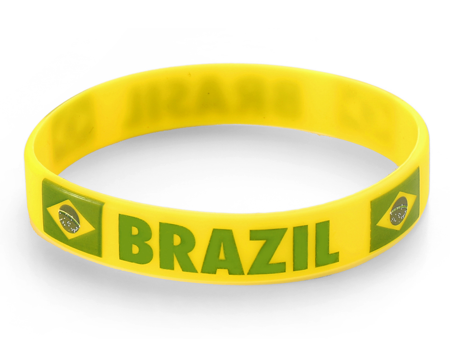 Pack of 25 Komonee Australia Yellow World Cup Olympics Silicone Wristbands
