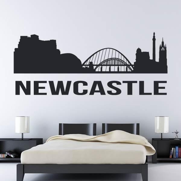 Newcastle upon Tyne UK Cityscape Skyline Wall Art Sticker (AS10277)  sc 1 st  eBay : city skyline wall art - www.pureclipart.com