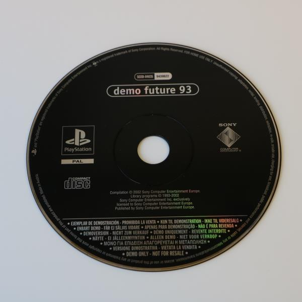 Details about EURO DEMO FUTURE 93 - SONY PS1 PLAYSTATION PSONE - SCED-04035  (9439622) DISC
