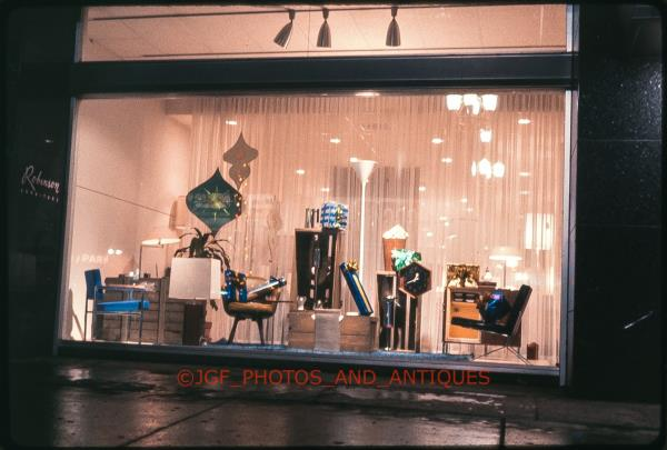 Details About 1960s Detroit Robinson Furniture Storefront At Night Orig Vtg 35mm Photo Slide
