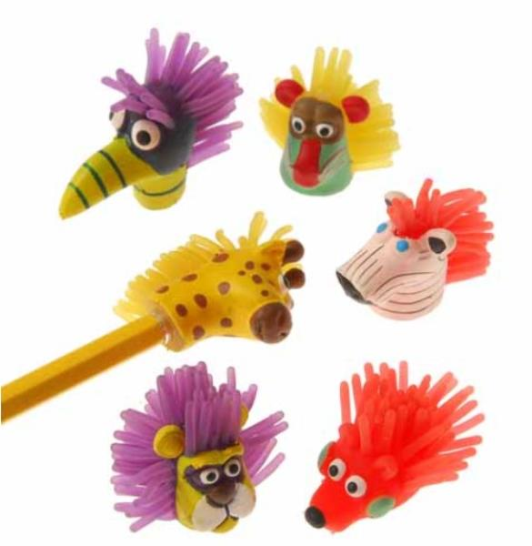 12 Count US Toy Wiggle Eye Pencil Toppers