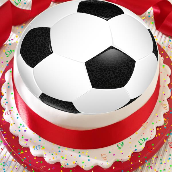 Soccer Ball Edible Sugar Decorations Simple Football Black & White Soccer Ball 75 Inch Precut Edible Birthday Design Ideas