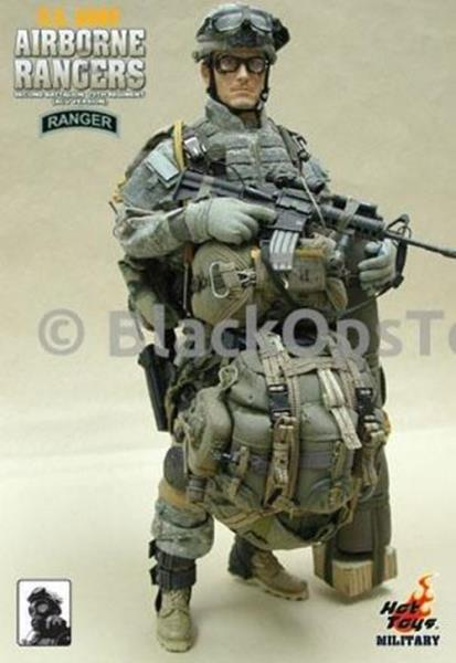 1//6 Scale Toy US Army Airborne Rangers Woodland Vest w//Plates