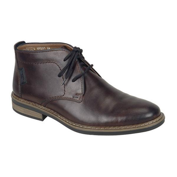 34010 25 Mens Warm Lined Lace Up Boots Brown